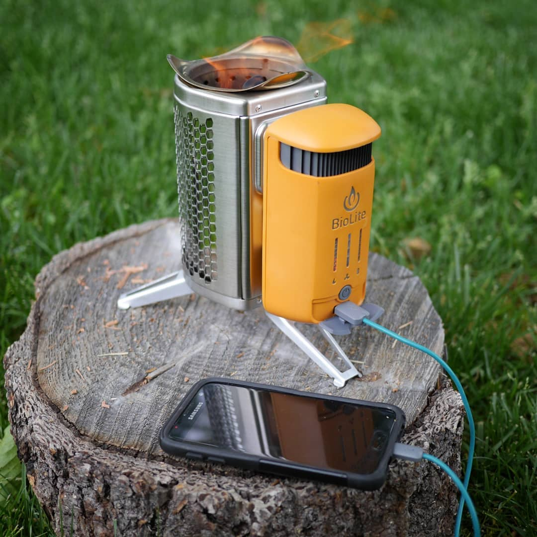 wood burning backpacking biolite campstove