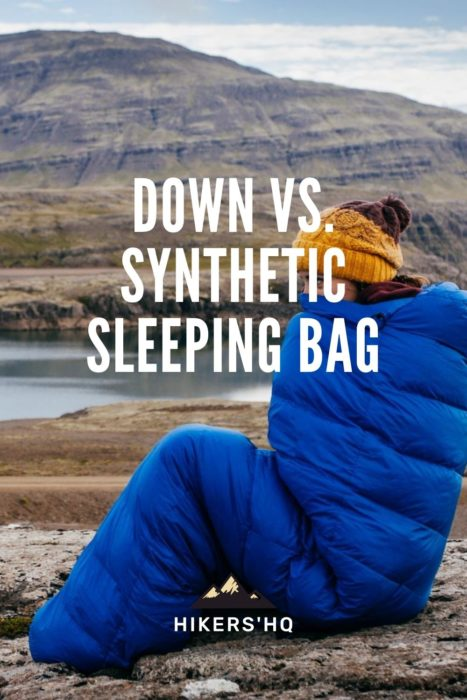 down vs synthetic sleeping bag - pinterest