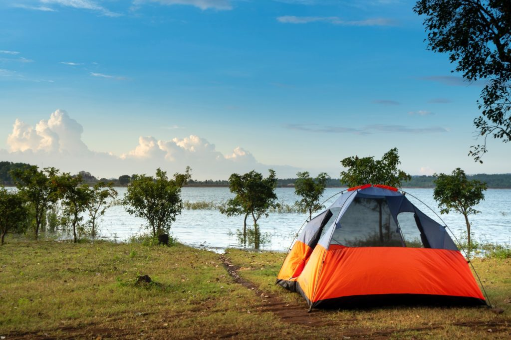 tent river side